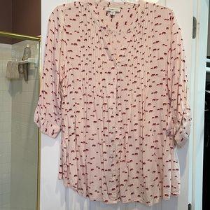 3x coldwater creek pin tuck button down shirt